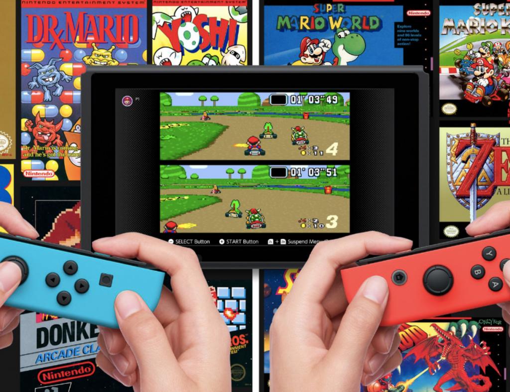 Nintendo Switch Online: serviço de assinatura para jogos online e que traz clássicos do passado.